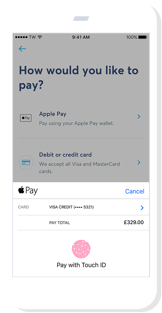 Apple Pay on your TransferWise iOS app