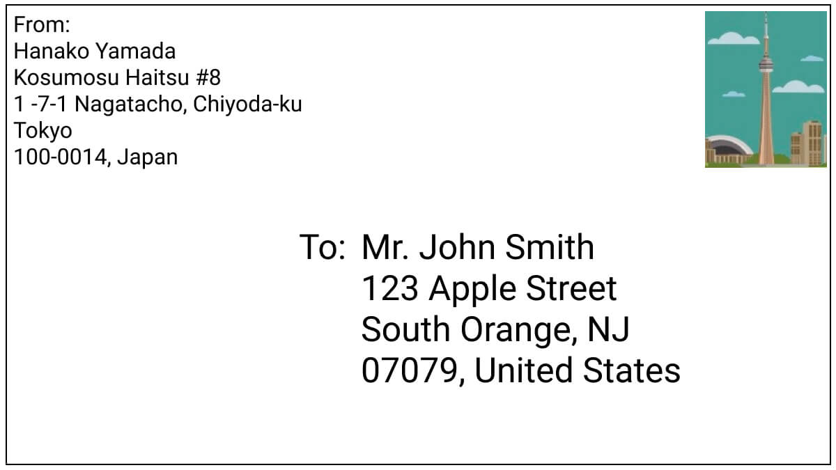 letter-example-from-japan-to-usa