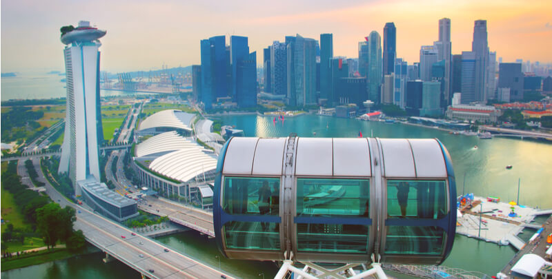 skyline from singapore flyer